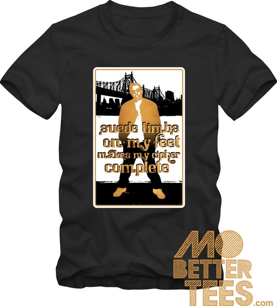 Suede Timbs On My Feet black T-Shirt Queensbridge NY Nasty Nas Illmatic timberland