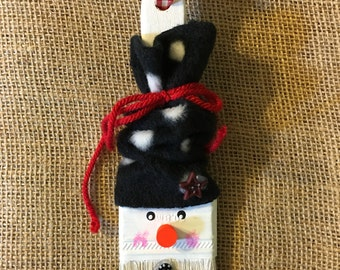 Snowman Paint Brush Ornament