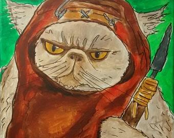 "Custom Pet Portrait painted on canvas 11"" x 14"""