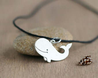 Silver whale pendant - Silver jewellery - Animal - Animal jewelry - Silver Whale Necklace
