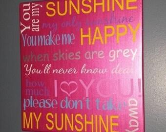 You Are My Sunshine Nursery Decor Sign