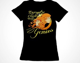 Gemini Girls Zodiac Astrology Tee