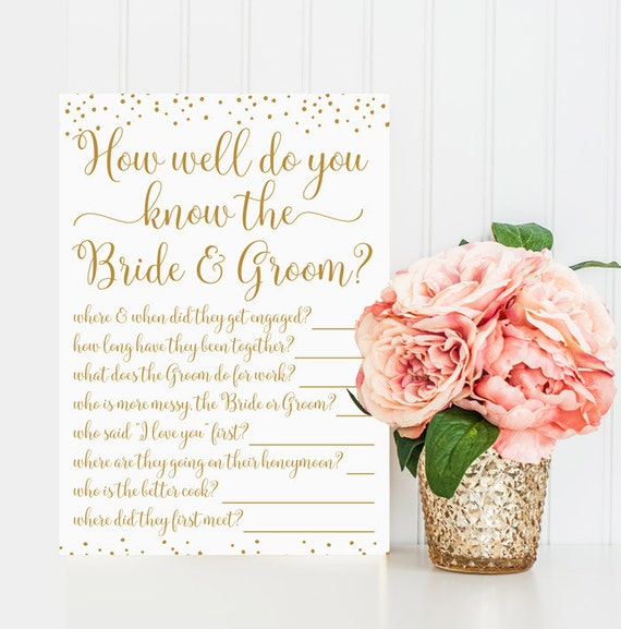 How Well Do You Know The Bride And Groom By