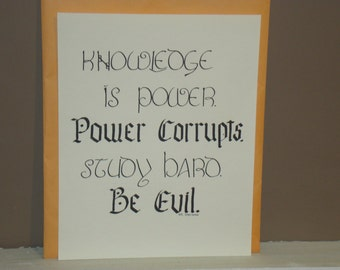 Knowledge is Power art quote