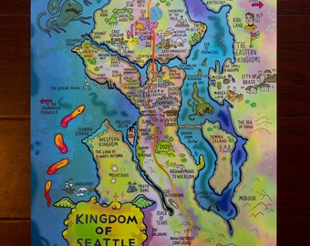Fantasy Map of Seattle
