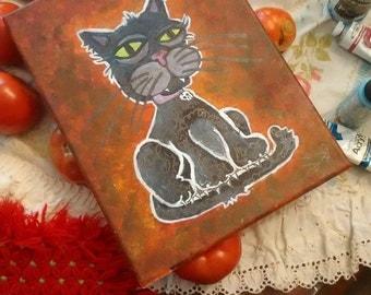 Black Cat Portrait of Doom