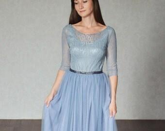 Wedding lace dress -Haze -  unique wedding gown. Bridal gown