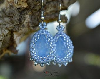 Blue Pear earrings