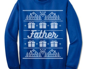 Father Christmas Sweatshirt. Ugly Christmas Sweater for Father. Christmas Gift for Dad.