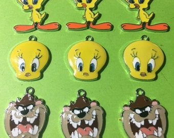 Tweety Bird and Tazmanian Devil Charms