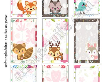 Woodland, Happy Planner stickers [51] , Full box, A5 PDF, Instant download