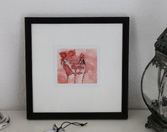 """Art print """"Crazy chicken"""""""