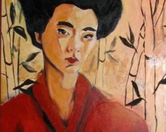 Woman in Bamboo