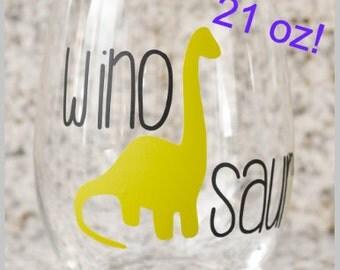 Winosaur Stemless Wine Glass