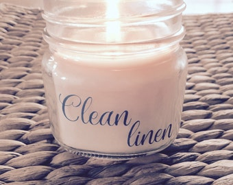 Clean Linen Soy Candle