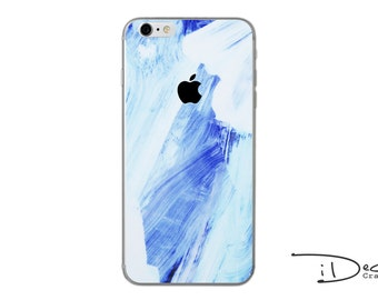 Blue Paint Decal Sticker Skin for iPhone SE, iPhone 6/6s, iPhone 6plus, iPhone 7 and iPhone 7plus
