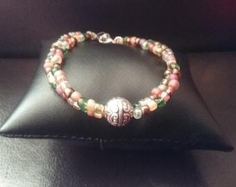 Double stranded bohemian bracelet