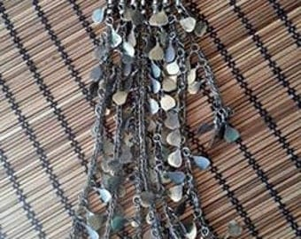Extra Long Kuchi Tribal Pendant 14""