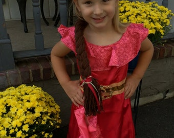 Elena of Avalor Dress Up Braid for Little Princesses