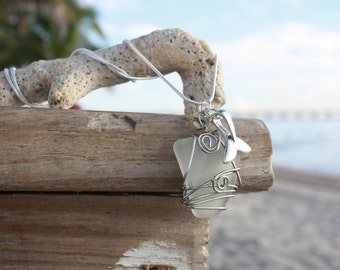 Frosted Sea Glass Necklace