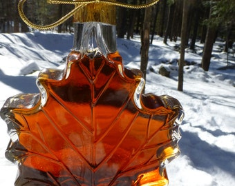 500 ml of Pure Maple Syrup in Glass Maple Leaf