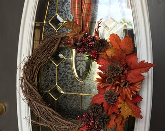 "Autumn Wreath ""Pining for Fall"""