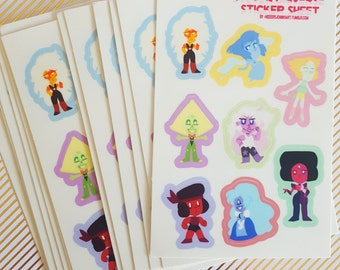 Steven Universe Sticker Sheet - Small