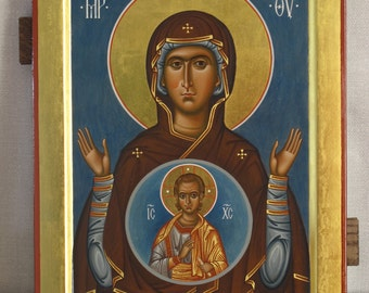 "Mother of God Byzantine orthodox icon Икона Божией Матери ""Знамение"""