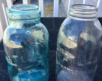 Vintage Atlas E-Z Seal & Atlas Strong Shoulder Canning Jars