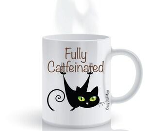 Fully Catfeinated Cat Coffee Mug