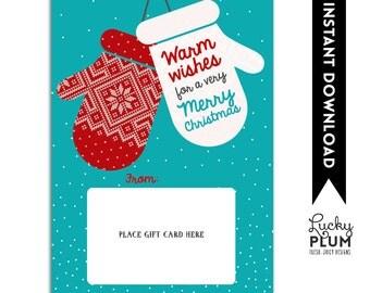 Thanks A Latte Gift Card Holder / Christmas Gift Card Holder / Starbucks Gift Card Holder / Dunkin Donuts Gift Card Holder / *Printables
