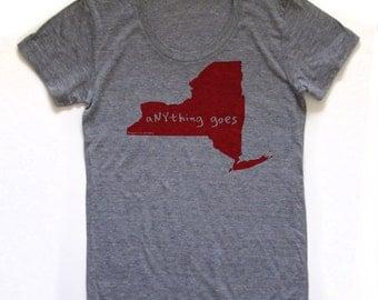 new york tshirt, women's shirt, nyc tshirt, new york shirt, graphic t, witty tshirt, free ship