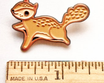 Enamel pin, SQUIRREL PIN, squirrel enamel pin, backpack pins, animal enamel pin, flying squirrel, kawaii enamel pins, lapel pin cute gift