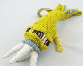 Monster Doll Plush Plushie Softie Amigurumi, Collectible Crochet Soft Art Sculpture - Grimeclaw