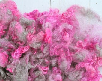 Curly Wensleydale Cotswold Locks - Hand Dyed Ombre - Geranium - 1.9 ounces