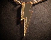 Bowie Bolt Gold Mirror Acrylic Necklace