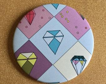 GIANT Gem Magnet - Fridge Magnet, Refrigerator Magnets, Gem Magnets, Diamond Magnet, Illustrated Magnet