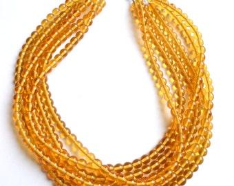 Michelle - Honey Glass Bridesmaid Statement Necklace
