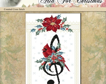 Counted Cross Stitch Pattern Aria For Christmas
