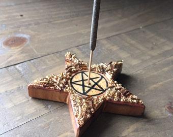 Pentacle Incense Holder