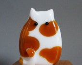 Spotted Handmade Lampwork Cat Bead Focal by teribeads - Marianne FatCat