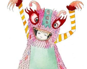 Square Greeting Card: Jabberwocky
