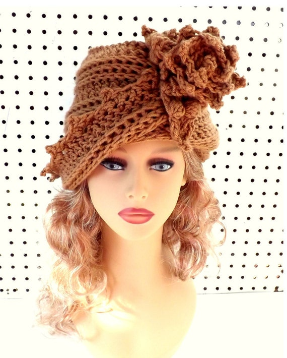 Crochet Cloche Hat 1920s Womens Crochet Hat Womens Hat 1920s