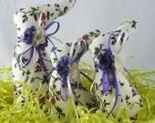 BUNNY Tuckins, Set of 3, Bunny Tucks,Easter Bunny, Bunny Ornaments, Bunny Decorations, Easter Ornaments, Easter Decorations, Stuffed Bunnies
