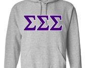 Sigma Sigma Sigma shirt, Sigma Sigma Sigma sweatshirt, Tri Sigma Hoodie, sorority letters, greek letters, Sigma Sigma Sigma hoodie