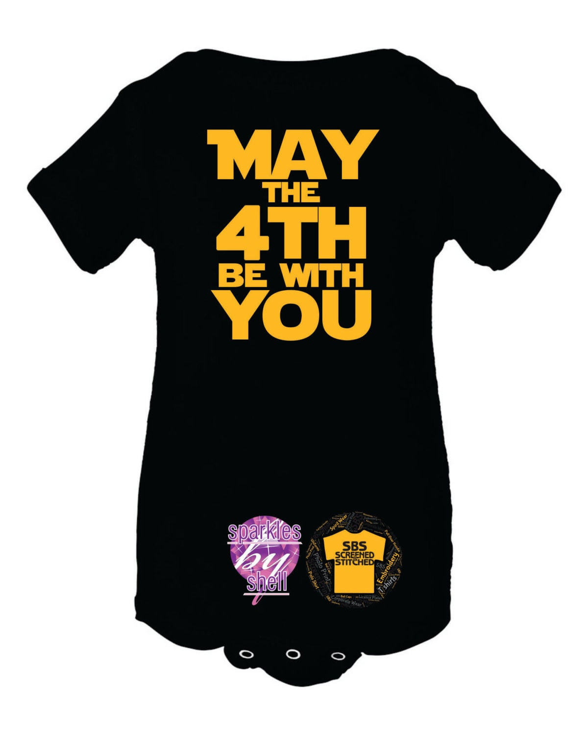 May The Fourth Be With You Baby Shower: May The 4th Be With You Infant Creeper Bodysuit Funny Baby