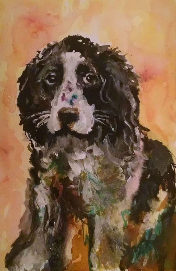 Pet Portraits Dog ,Animal art, Dog art, Custom portrait, Pet portrait ,Home decor , Art and collectibles, Pet supplies, Custom dog portrait