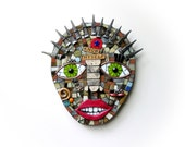 Know Thyself. (Original Unique Handmade Mixed Media Mosaic Wall Hanging by Shawn DuBois)