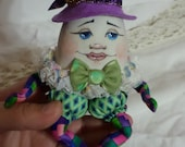 Doll Pattern pdf Instant Download - Humpty Dumpty Doll - Mother Goose - Collectible doll - Nursery Decor - Paula McGee - Paulas Doll House