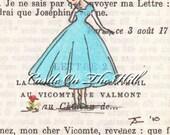 Paris postcards, 1950 - An Unexpected Flower On the Rue du Dragon - set of 10 postcards